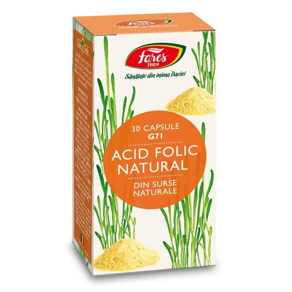 Acid Folic Natural (G71) 30cps FARES