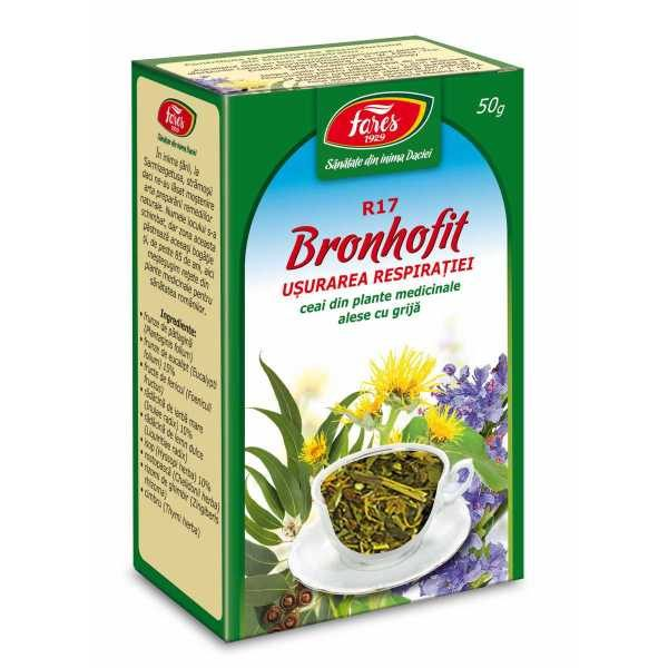 Ceai Bronhofit Usurarea Respiratiei 50g FARES