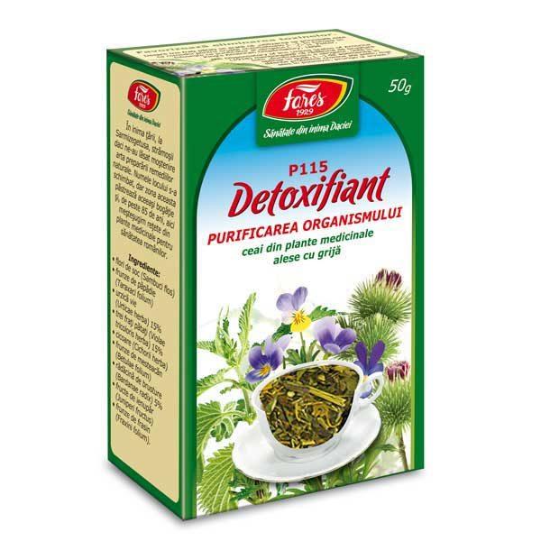 Ceai Detoxifiant Fares Purificarea Organismului 50g