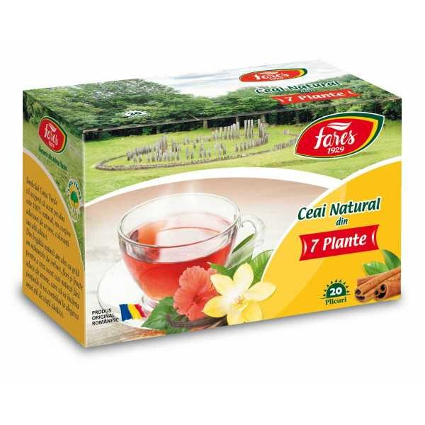 Ceai Natural Din 7 Plante - Ceaiurile Lumii - 20dz FARES