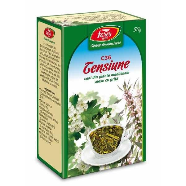 Ceai Tensiune (Hipertensiune) (C36) 50gr FARES