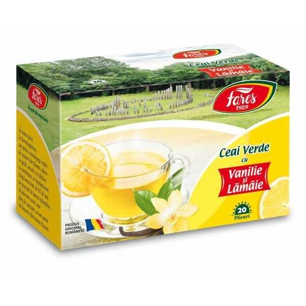 Ceai Verde Vanilie & Lamaie 20dz FARES