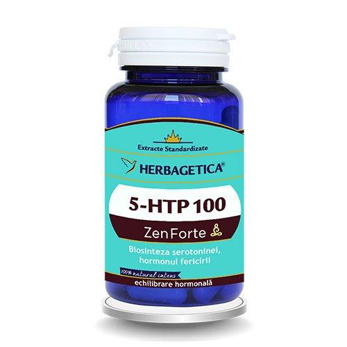 5-Htp 100 Zen Forte 60cps HERBAGETICA