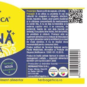 Aspirina Organica Herbagetica 120cps