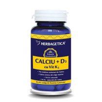 Calciu cu Vitamina D3 si K2 Herbagetica 30cps