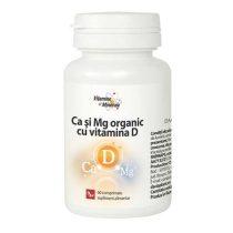 Calciu si Magneziu Organic cu Vitamina D Dacia Plant 60cpr
