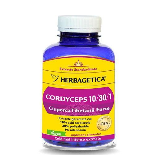 Cordyceps - Ciuperca Tibetana Forte 120cps HERBAGETICA