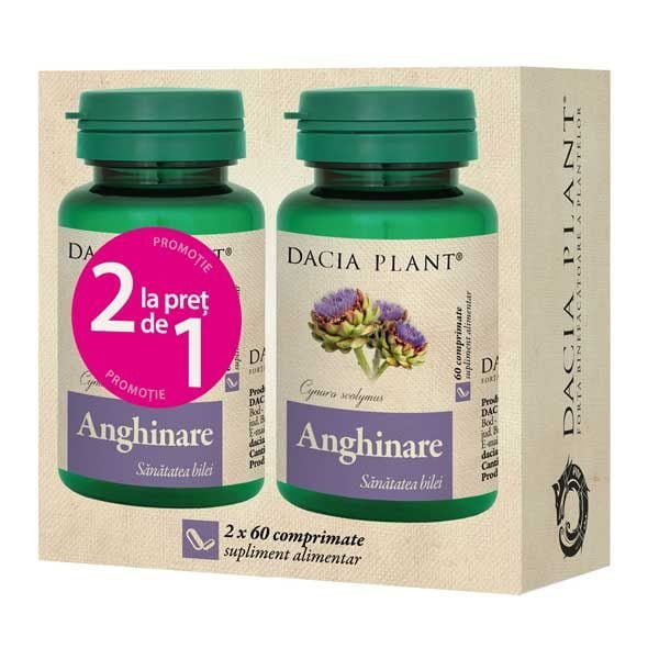 Pachet Anghinare 60cpr 1+1 Gratis DACIA PLANT