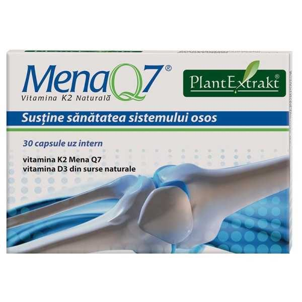 Mena Q7 Vitamina K2 Naturala 30cps PLANTEXTRAKT