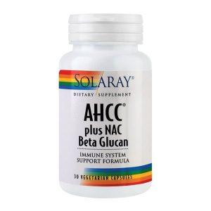 AHCC Plus Nac & Beta Glucan Secom Solaray 30cps