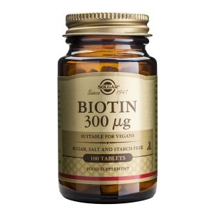 Biotina (Vitamina B7) 300mcg Solgar 100tb
