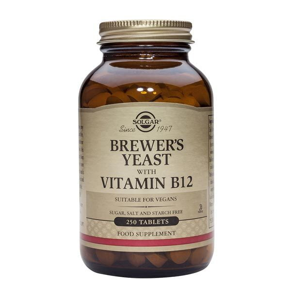 Brewer's Yeast cu Vit. B12 500mg 2 (Drojdie de bere) Solgar 250tb