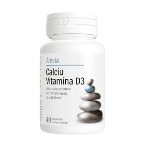Calciu Vitamina D3 Alevia 40cpr
