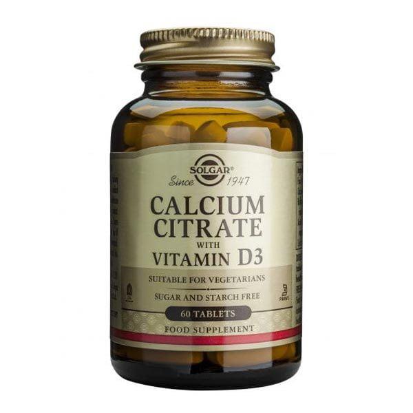Calcium Citrate 250mg cu D3 60tb (Citrat de Calciu cu Vit. D3) SOLGAR