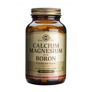Calcium Magnesium Plus Boron (Calciu Magneziu si Bor) Solgar 100tb