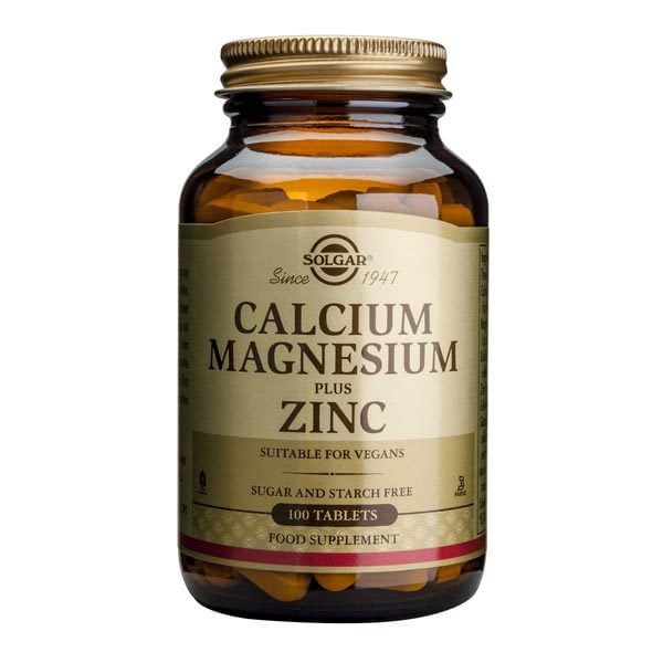 Calcium Magnesium + Zinc (Calciu, Magneziu, Zinc) 100tb SOLGAR