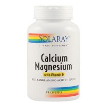 Calciu Magneziu cu Vitamina D Secom Solaray 90cps