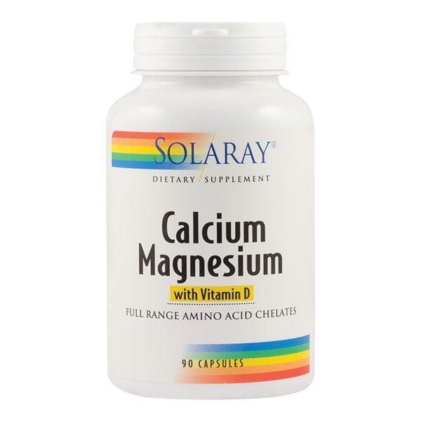 Calcium Magnezium With Vitamin D 90cps Solaray SECOM