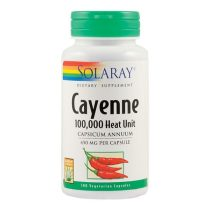 Cayenne Solaray Secom 450Mg 100cps