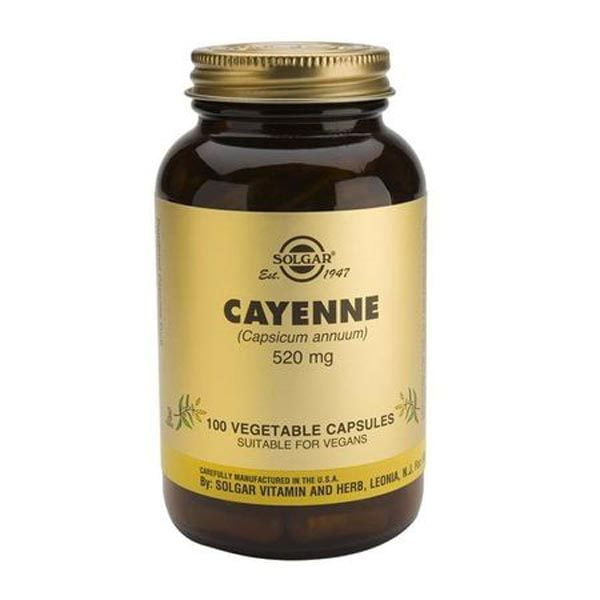 Cayenne 520mg (Ardei Iute) Solgar 100tb