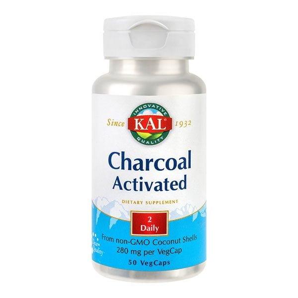 Charcoal Activated (Carbune medicinal activ) 50cps KAL SECOM