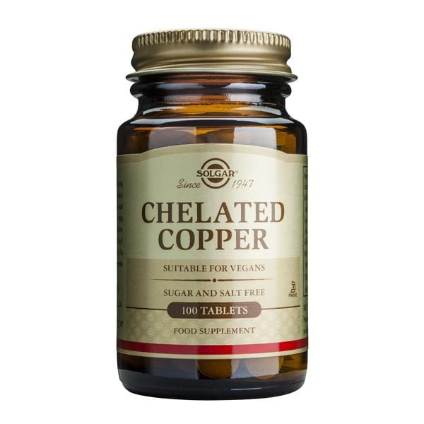 Chelated Copper 100tb (Cupru chelat) SOLGAR