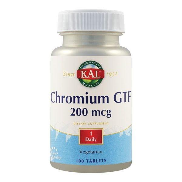 Chromium GTF (Crom) 200mcg 100tb KAL SECOM
