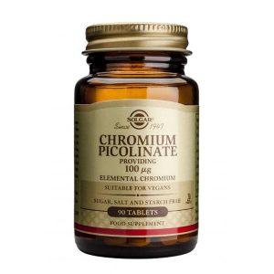 Chromium Picolinate 100mg 90tb (Picolinat de Crom) Solgar 90tb