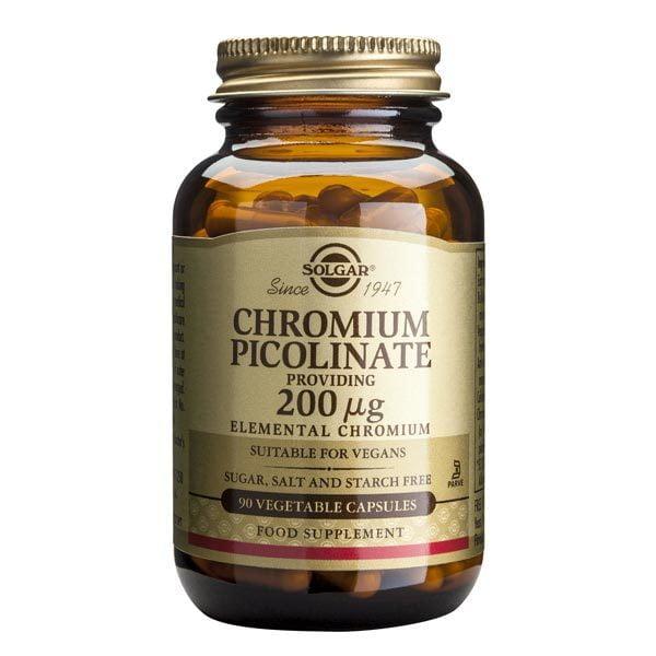 Chromium Picolinate 200ug 90cps Vegetale (Picolinat de Crom) SOLGAR