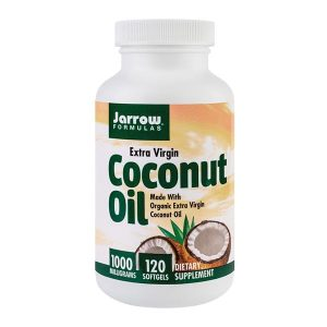 Coconut Oil Extra Virgin (Ulei de cocos) 1000Mg Secom Jarrow Formulas 120cps