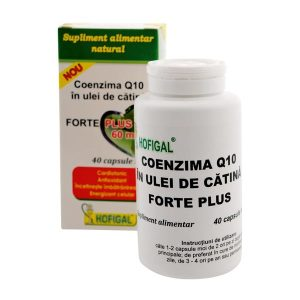 Coenzima Q10 in Ulei de Catina Forte Plus Hofigal 60mg 40cps