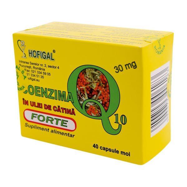 Coenzima Q10 + Ulei Catina Forte 30mg 40cps HOFIGAL