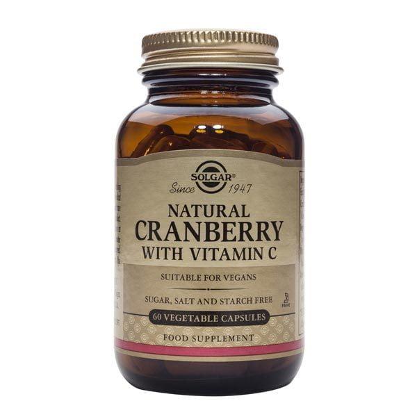 Cranberry Extract With Vit C 60cps (Merisoare naturale cu Vit C) SOLGAR
