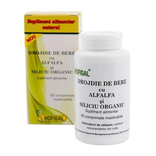 Drojdie Bere cu Alfalfa si Siliciu Organic 60cpr HOFIGAL
