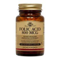 Folacin Acid Folic Solgar 800ug 100cps