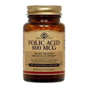 Folacin (Acid Folic) 800ug Solgar 100cps