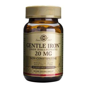 Gentle Iron 20 mg Fier Solgar 90cps