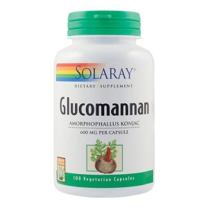 Glucomannan Secom Solaray 600Mg 100cps