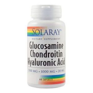 Glucosamine Chondroitin Hyaluronic Acid Secom Solaray 60cps