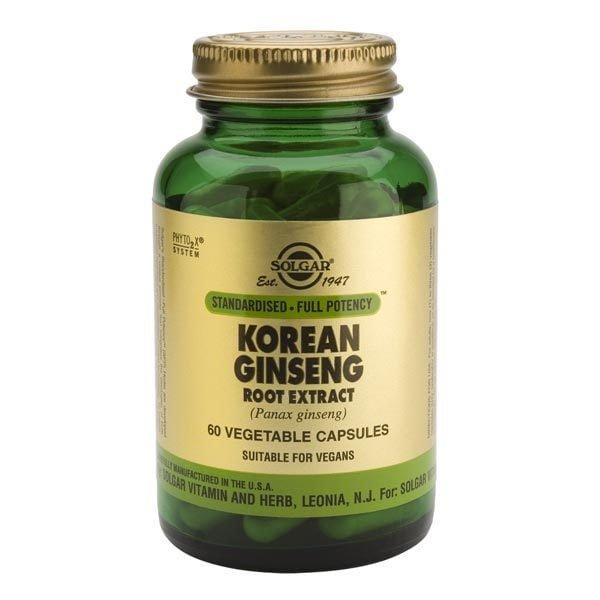 Korean Ginseng Root Extract 60cps (Ginseng coreean) SOLGAR