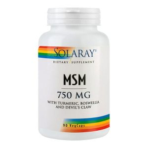 MSM Secom Solaray 750 mg 90cps