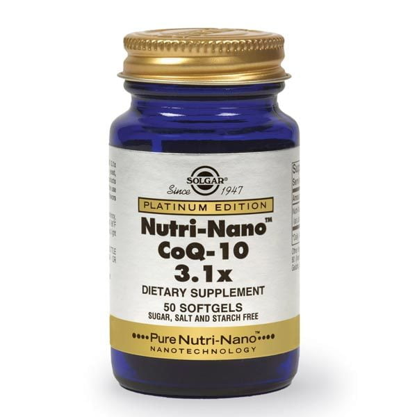 Nutri-Nano Coenzima Q10 3.1x 50cps SOLGAR