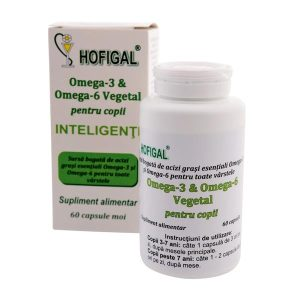 Omega 3 si 6 Vegetal pentru Copii Inteligenti Hofigal 60cps