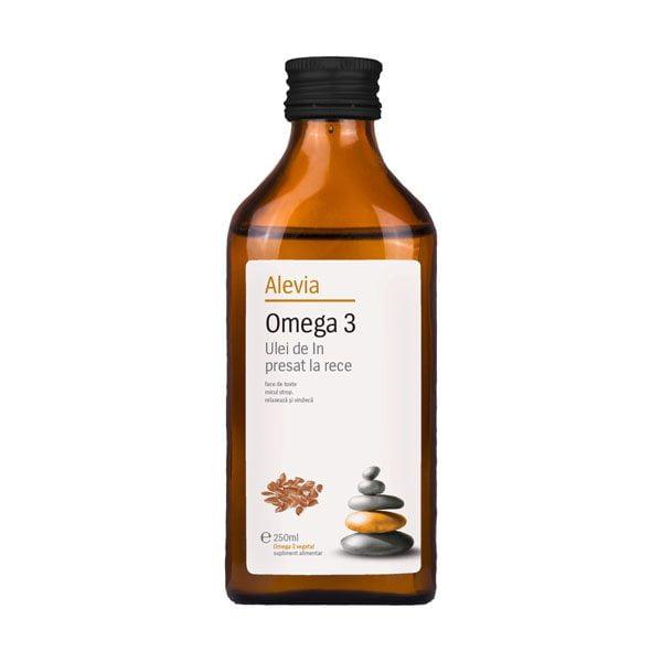 Omega 3 Ulei de In Presat la Rece Alevia 250ml
