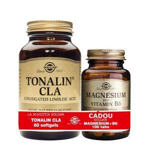Pachet CLA Tonalin Solgar 1300mg + Magneziu cu B6 100tab Gratis