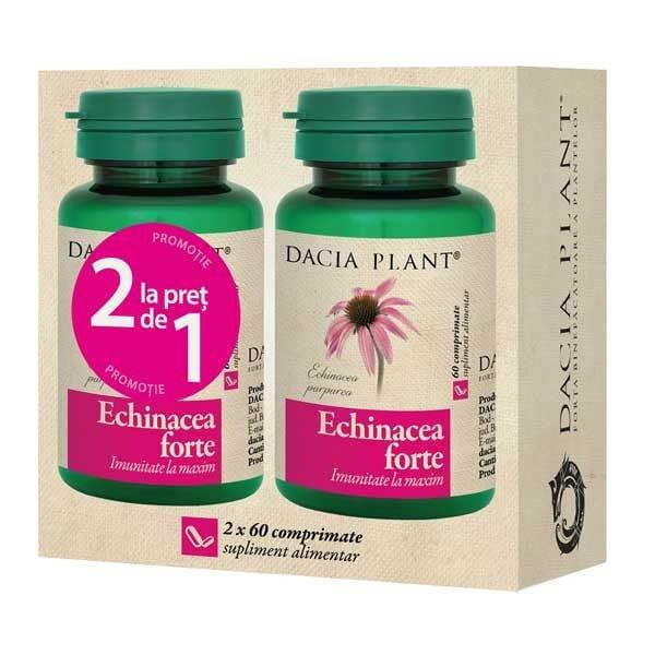 Pachet Echinacea Forte 60cpr 1+1 Gratis DACIA PLANT