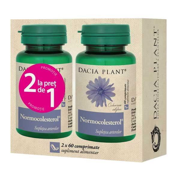 Pachet Normocolesterol 60cpr 1+1 Gratis DACIA PLANT