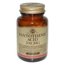 Pantothenic Acid 200 mg Solgar (Acid pantotenic sau Vitamina B5) 100tb