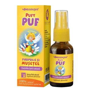 Pufy Puf Propolis si Musetel Dacia Plant Ingerasul Spray fara Alcool 20ml