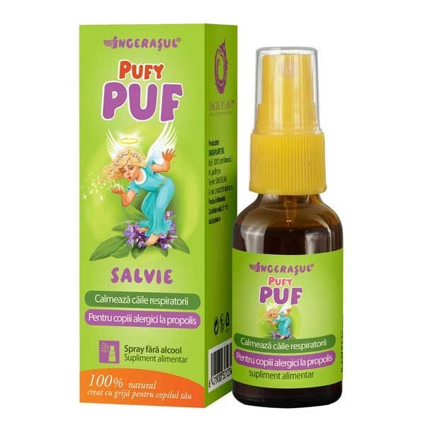 Pufy Puf Ingerasul - Salvie Spray Fara Alcool 20ml DACIA PLANT